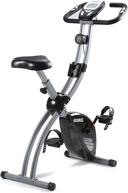 KUOKEL Bicicleta Estática Plegable Bicicleta Spinning Exercise ...