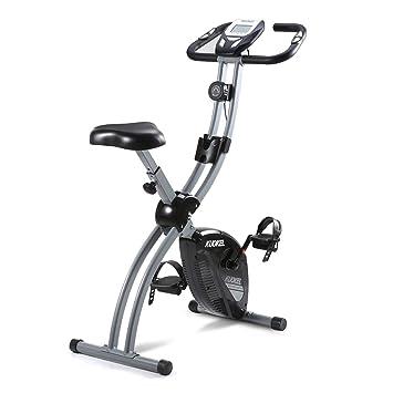 KUOKEL-Bicicleta Estática Plegable Bicicleta Exercise Bike ...