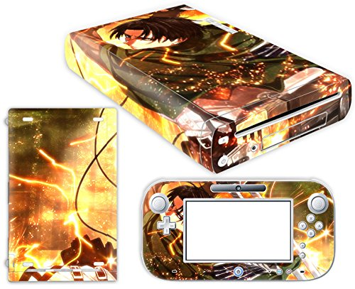 Price comparison product image EBTY-Dreams Inc. - Nintendo Wii U - Shingeki no Kyojin Attack on Titan Anime Levi Ackerman Rivaille Vinyl Skin Sticker Decal Protector