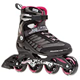 Rollerblade Zetrablade W - Women's Skate - 4x80mm/84A Wheels - SG 5 Performance Bearings - Black/Cherry  - US Women's Size 6 (Renewed)