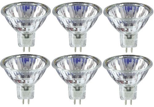 6 x STATUS 20W 12V Dichroic MR11 GU4 Halogen Lamp, Low Voltage Dimmable Reflector GU 4 Spot Light Bulbs, Cool Beam, 3 Years Life, 30° Beam Angle/ Flood 30° Beam Angle/ Flood
