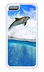 iPhone 5c case, Cute Dolphin iPhone 5c Cover, iPhone 5c Cases, Soft Whtie iPhone 5c Covers
