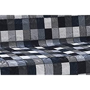 Anti-Slip Armless Pet Dog Sofa Cover Couch Covers Sectional Slipcover Non-Slip Arm-chair Recliner Chair Love-Seat Furniture Protector Futon Shield 3 Seater T L Shaped Leather (Sofa/Tartan Black White)