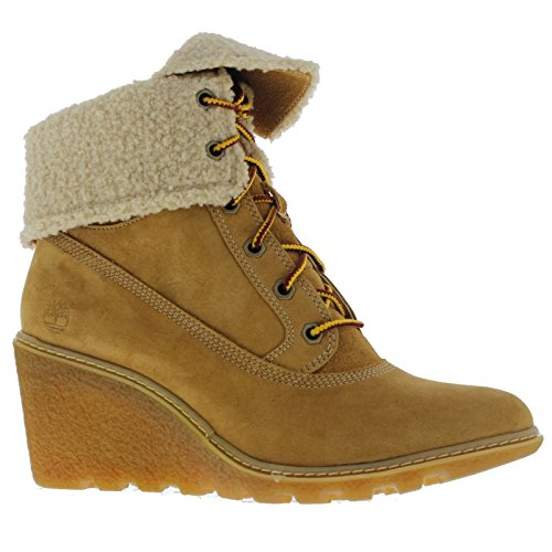Timber Top Roll Tuff Weizen Mujer Botas fqfgrwH