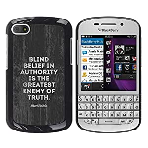Planetar® ( Authority Enemy Truth Movement Political ) BlackBerry Q10 Fundas Cover Cubre Hard Case Cover