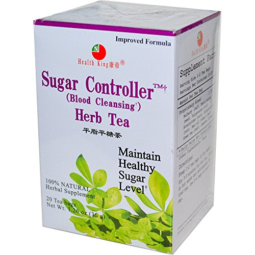 Health King Tea, Sugar Control Herb Tea 20 Tea Bags