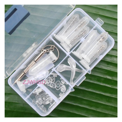 Sanheshun® Eyeglass Sun Glasses Optical Repair Tool Assortment Kit Screw Nut Nose Pad - Eyeglass Parts Rimless Repair