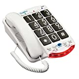 Clarity JV35 Amplified Corded Phone with Talk Back Numbers, Office Central