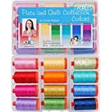 Christa Quilts Piece and Quilt Colors Aurifil Thread Kit 12 Large Spools 50 Weight CW50PQC12