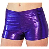 Look-It Activewear Purple Jewel Gymnastics and Dance Shorts for Girls and Women