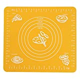 KESEELY Scale Flour Pad - Silicone Enamel Baking Mat Thickening Rolling Scale Mat Kneading Dough Pad Table Sheet (Orange, One Size)