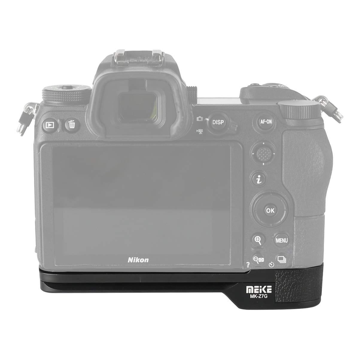 Meike MK-Z7G Soporte de sujeci/ón r/ápida para placa L Base de metal Base compatible con Nikon Z6 Z7