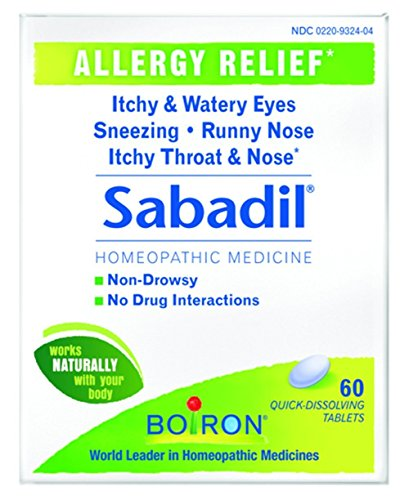 Boiron Sabadil Tablets, 4 Count Review