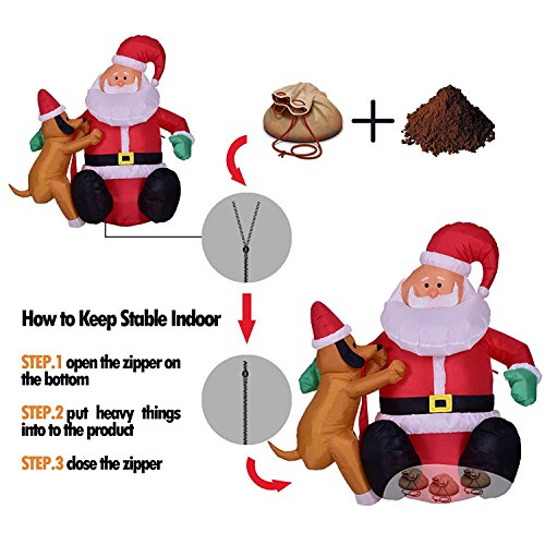 4 foot christmas inflatable airblown santa claus with for 4 foot santa claus decoration