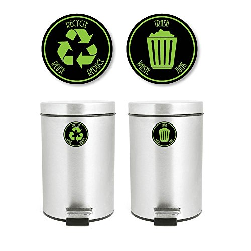 (Recycle and Trash Decal Sticker for trash cans for personal home or business use # 953 (4