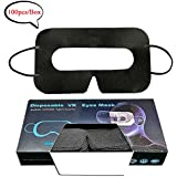 YooQoo Universal Disposable VR Mask Cover Face Cover Mask for VR, VR Sanitary Mask, VR Cover, VR Eye Cover Mask 100 PCS/Box (Black)