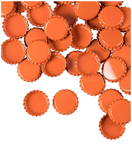 orange beer bottle caps - 5