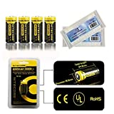 Bundle:Nitecore NL166 RCR123A Li-ion Rechargeable Battery 650mAh 3.7V 2.4Wh CE UL RoHS Certification (4*Nitecore NL166 Battery+2*EASTSHINE Battery Box)
