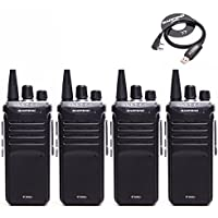 4pcs Baofeng BF-888S(I) UHF 400-470MHZ Two Way Radio Long Distance Range Communication Walkie Talike, Upgrade Version Of BF-888S + One USB Programming Cable Software CD