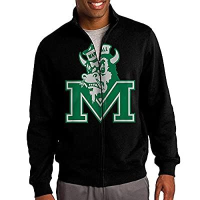 Simoon Marshall University Men's Solid Stand Collar Zipper Jacket