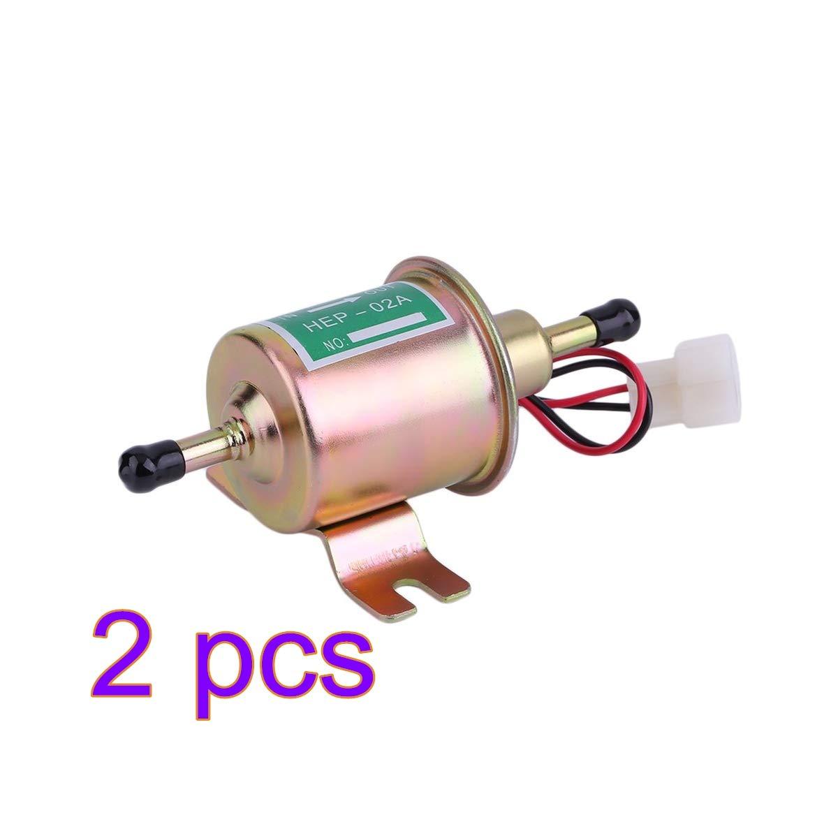 aceite de la bomba de combustible del coche en l/ínea universal del gas 12V para los motores diesel de la gasolina Bomba de combustible el/éctrica 2pcs