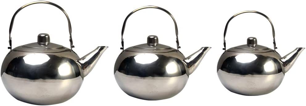 Stainless Steel Teapot with Filter,1L//1.5L//2L Capacity Optional,Coffee Maker Kettle with Anti-scalding Handle,Easy Pour Leaves Bulk Tea Kettle,for Home Restaurant Hotel