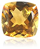 Citrine 12.00mm Cushion Cut Loose Gemstone