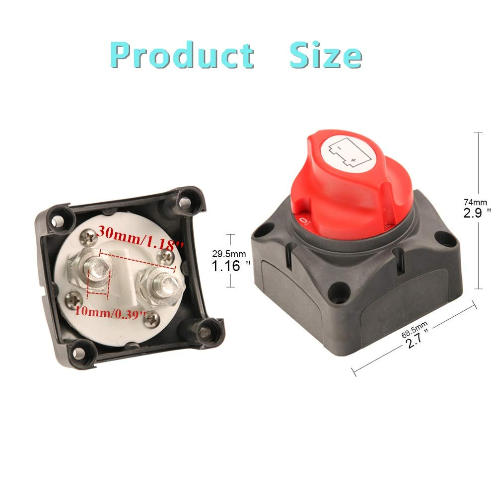 300//1000 Amp 12V//24V for RV Battery Marine Boat Car Vehicle Battery Disconnect Switch Battery Disconnect Switch SUNMORN Battery Cut Off Switch Waterproof