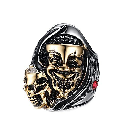 Men s Gothic Ring Gold Amazon