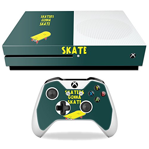 Price comparison product image Skin For Microsoft Xbox One S – Skaters Gonna Skate | MightySkins Protective, Durable, and Unique Vinyl Decal wrap cover | Easy To Apply, Remove, and Change Styles | Made in the USA
