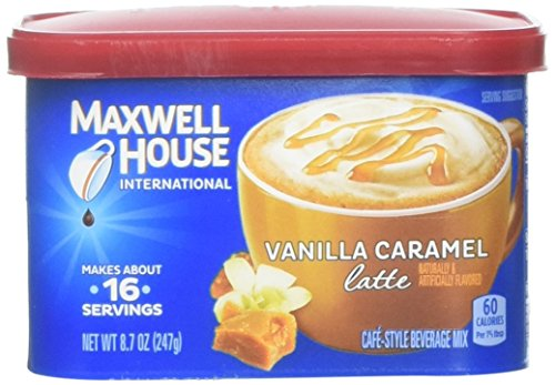 Maxwell House International Cafe Vanilla Caramel Latte Beverage Mix, 8.7 Ounce, Pack of 8 from MAXWELL HOUSE