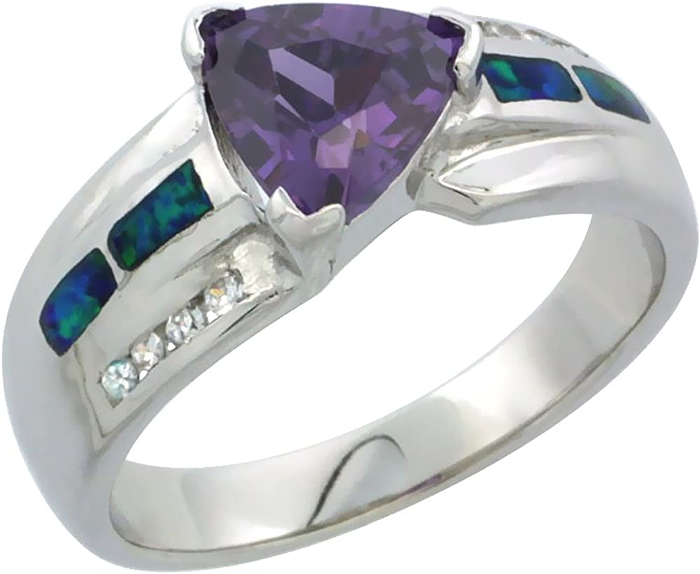 Rose Gold Plated Sterling Silver Pink Fire Opal Inlay /& Topaz Ring size 6,7,8,9