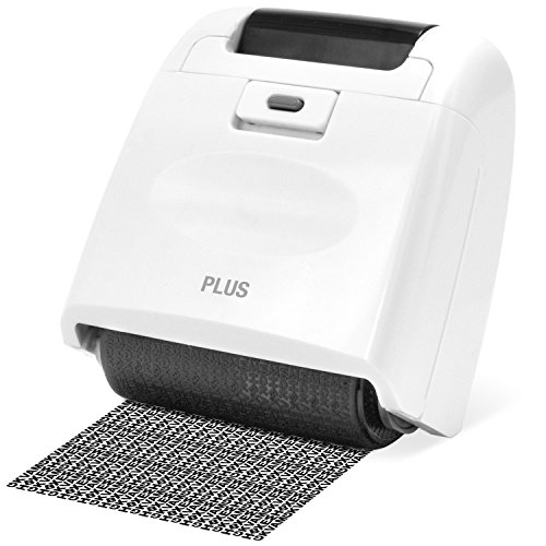 Plus Guard Your ID Wide Roller Stamp, White