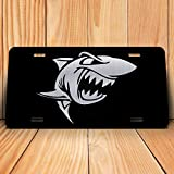 DHDM Angry Shark License Plate Tag Vanity Novelty