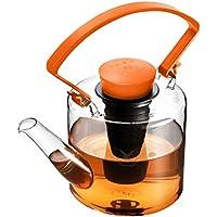 Qdo Theepot, Glas, Oranje, 1L