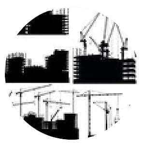 alfombrilla de ratón un conjunto de edificios en construcción aisladas - ronda - 20cm
