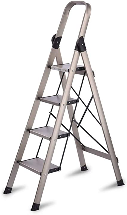 Bseack_store Escalera móvil Plegable Escaleras Pedal ...