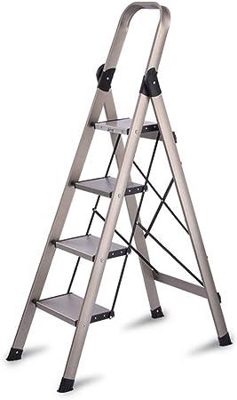 Bseack_store Escalera móvil Plegable Escaleras Pedal Ampliación de 4 Pasos de Escalera de Aluminio de aleación multifunción for Limpieza de Interior/Escalada: Amazon.es: Hogar