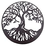 Bellaa 20230 Tree of Life Metal Wall Art Hanging Garden Sculptures 24″ Inches Review