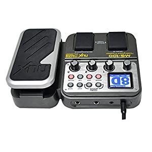 NUX MG-100 Modeling Guitar Processor Guitar Effect Pedal Drum Tuner Recorder 58 Effect 72 Preset Multi-functio from NUX