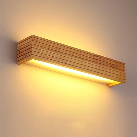 Lámparas Apliques de Pared Lámpara de pared de madera maciza llevada Lámpara de pared del pasillo del dormitorio nórdico de la ingeniería del hotel de la ingeniería del hotel para Escalera Dormitorio: