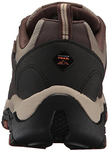 Skechers Men's Terrabite Oxford, Brown/Orange, 10 M US