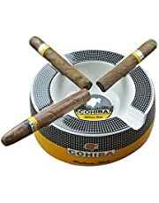 "GUEVARA Cigar Ashtray Big Ashtrays for 8"" Round Cigarettes Large Rest Outdoor Cigars Ashtray for Patio/Outside/Indoor Ashtray"