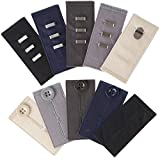 Home-X Easy Fit Hooks & Buttons for Slacks, Waistband Extenders to Give You a More Relaxed Feel, 5 Color Set (1/2' - 2' Extension)