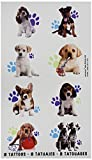 """Amscan Adorable Party Pups Temporary tattoos Favor (16 Pack), 2"""" X 1 3/4, Multicolor"""
