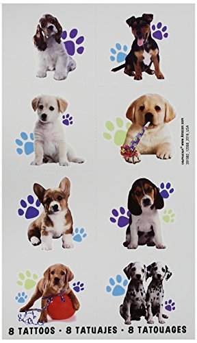 Adorable Party Pups Temporary tattoos Favor 2