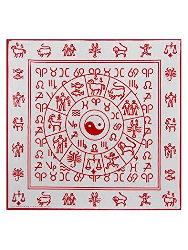 Bandana rouge/motif yin yang