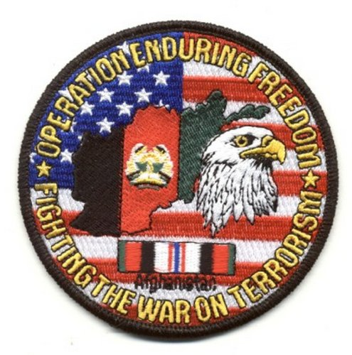 Operation Enduring Freedom Fighting the War on Terrorism Patch