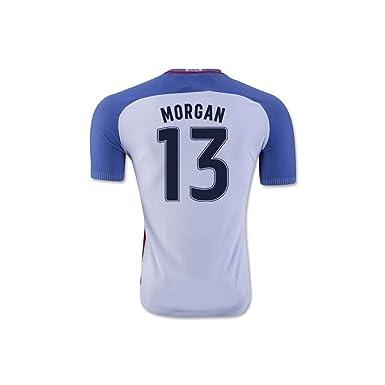 6bd1f2281 Amazon.com  Morgan  13 USA National Women s Alex Home Jersey White ...
