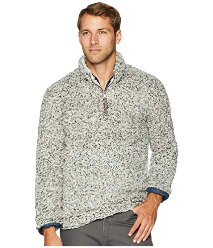 True Grit Men's Frosty Tipped Pile 1/4 Zip Pullover Charcoal X-Small